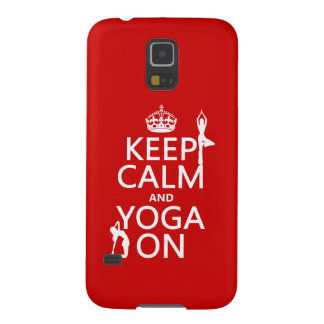 Keep Calm and Yoga On (customize colors) Galaxy S5 Covers