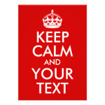 Keep Calm and Your Text Announcement