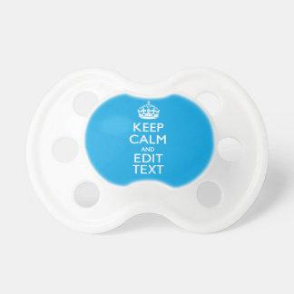Keep Calm And Your Text on Sky Blue Decor Dummy