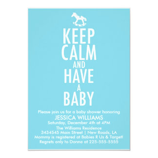 Keep Calm Baby Shower Card