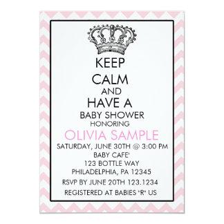Keep Calm Baby Shower Invitation