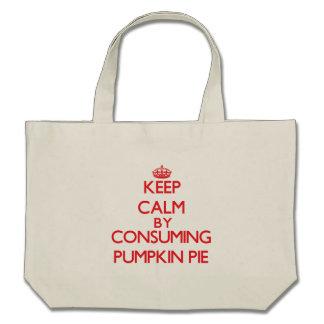 Keep calm by consuming Pumpkin Pie Canvas Bag