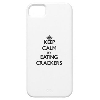 Keep calm by eating Crackers iPhone 5 Cover
