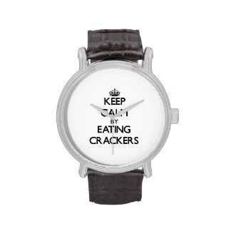 Keep calm by eating Crackers Wristwatches