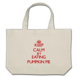 Keep calm by eating Pumpkin Pie Canvas Bags