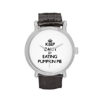 Keep calm by eating Pumpkin Pie Wrist Watches