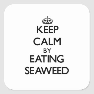 Keep calm by eating Seaweed Square Sticker
