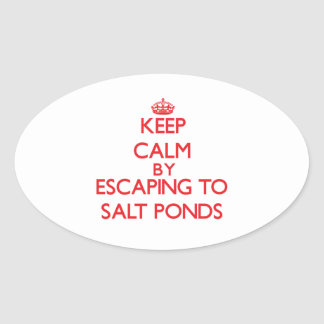 Keep calm by escaping to Salt Ponds Virginia Oval Stickers