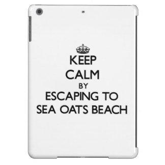 Keep calm by escaping to Sea Oats Beach Florida iPad Air Cover