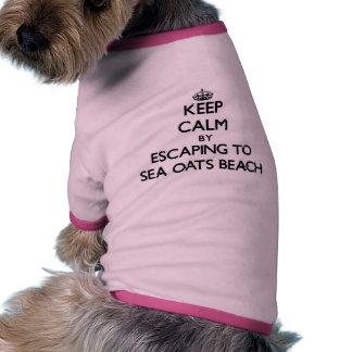 Keep calm by escaping to Sea Oats Beach Florida Doggie Tshirt