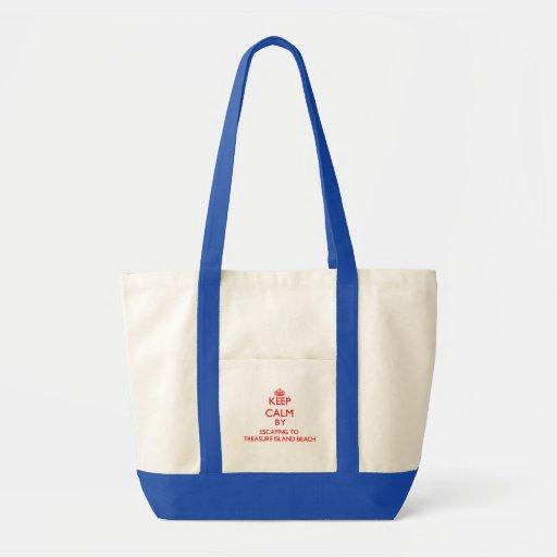 Keep calm by escaping to Treasure Island Beach Flo Bag