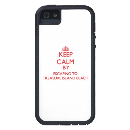 Keep calm by escaping to Treasure Island Beach Flo iPhone 5 Cover