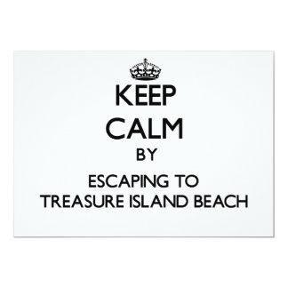 "Keep calm by escaping to Treasure Island Beach Flo 5"" X 7"" Invitation Card"
