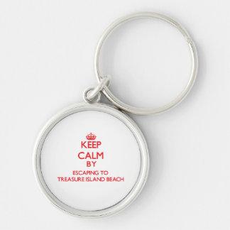 Keep calm by escaping to Treasure Island Beach Flo Keychain