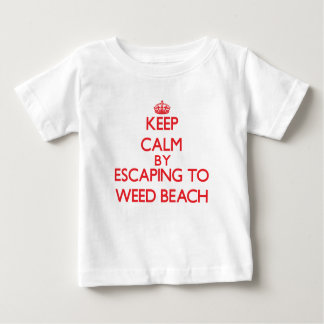 Keep calm by escaping to Weed Beach Connecticut Tshirts