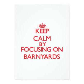 Keep Calm by focusing on Barnyards Custom Invitations