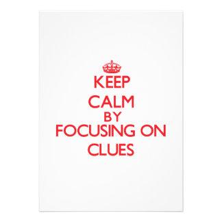 Keep Calm by focusing on Clues Custom Invite