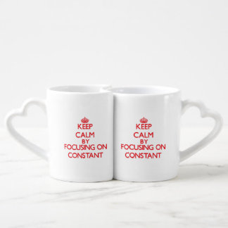 Keep Calm by focusing on Constant Lovers Mug Set