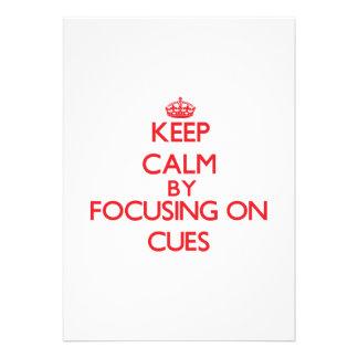 Keep Calm by focusing on Cues Custom Invites