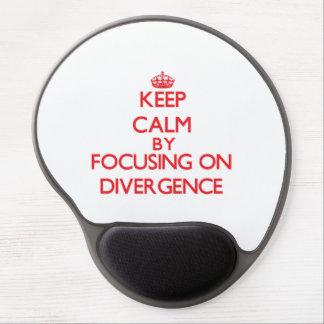 Keep Calm by focusing on Divergence Gel Mouse Pad