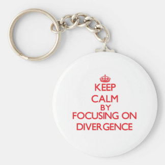 Keep Calm by focusing on Divergence Key Chains