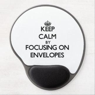 Keep Calm by focusing on ENVELOPES Gel Mousepad