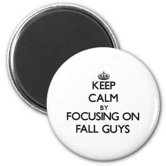 Keep Calm by focusing on Fall Guys Fridge Magnet