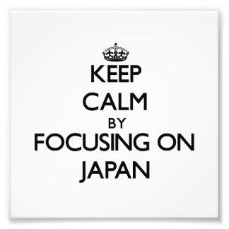 Keep Calm by focusing on Japan Art Photo