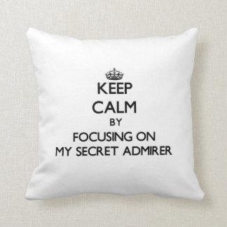 Keep Calm by focusing on My Secret Admirer Pillows