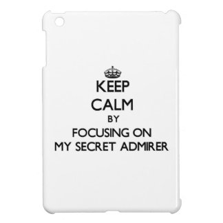 Keep Calm by focusing on My Secret Admirer iPad Mini Cases