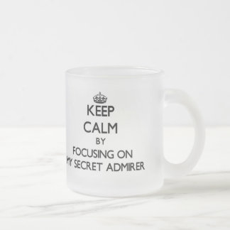 Keep Calm by focusing on My Secret Admirer Coffee Mug