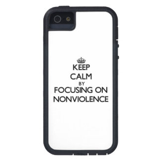 Keep Calm by focusing on Nonviolence iPhone 5 Cover