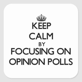 Keep Calm by focusing on Opinion Polls Square Sticker