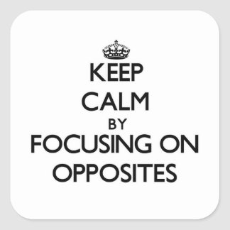 Keep Calm by focusing on Opposites Stickers