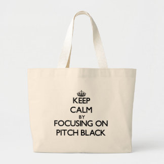 Keep Calm by focusing on Pitch Black Tote Bag
