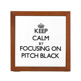 Keep Calm by focusing on Pitch Black Desk Organizer