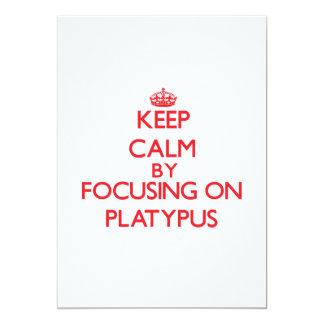 Keep calm by focusing on Platypus Card
