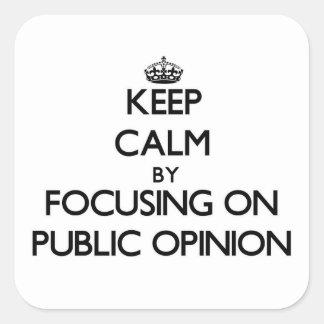 Keep Calm by focusing on Public Opinion Sticker