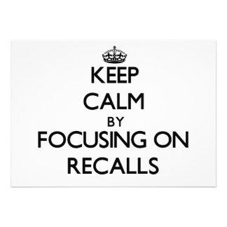 Keep Calm by focusing on Recalls Custom Invites