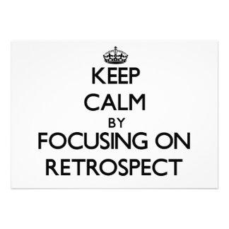 Keep Calm by focusing on Retrospect Invites