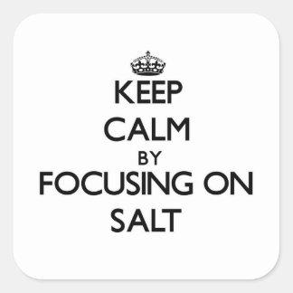 Keep Calm by focusing on Salt Stickers