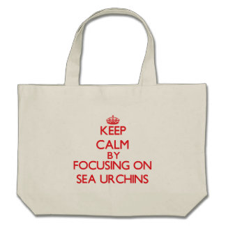 Keep calm by focusing on Sea Urchins Canvas Bags