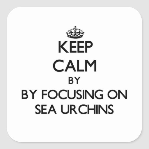 Keep calm by focusing on Sea Urchins Square Stickers
