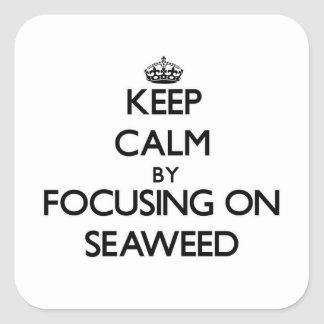 Keep Calm by focusing on Seaweed Square Sticker