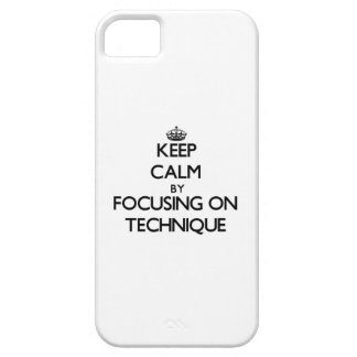 Keep Calm by focusing on Technique iPhone 5 Cover
