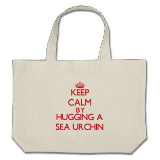Keep calm by hugging a Sea Urchin Canvas Bag
