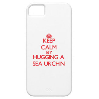Keep calm by hugging a Sea Urchin iPhone 5 Case