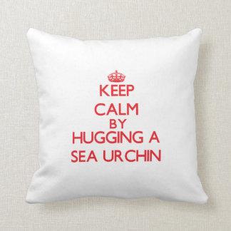 Keep calm by hugging a Sea Urchin Cushion