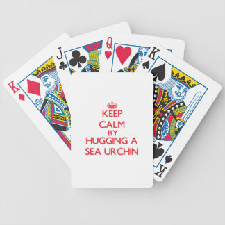 Keep calm by hugging a Sea Urchin Bicycle Playing Cards