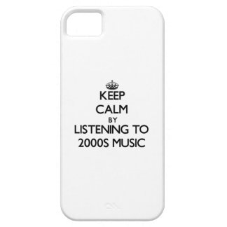 Keep calm by listening to 2000S MUSIC iPhone 5 Case